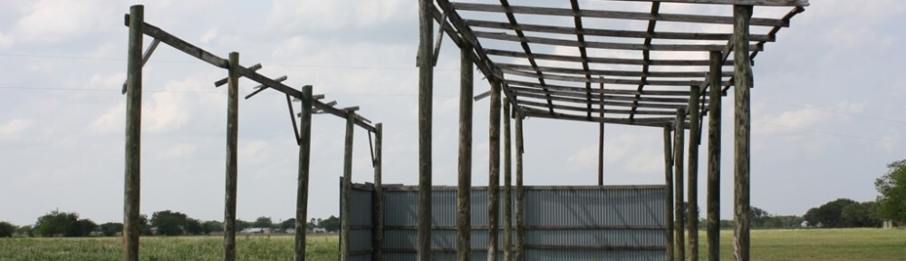 A photo of the old barn from the old farm structure after the process to tear it down had begun.