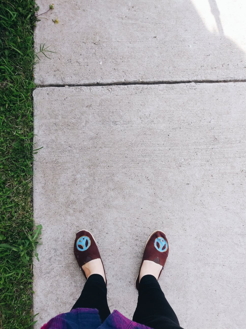 From where I stand, on a sidewalk
